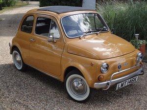 Very Original Right hand drive Fiat 500 in Mustard Yellow