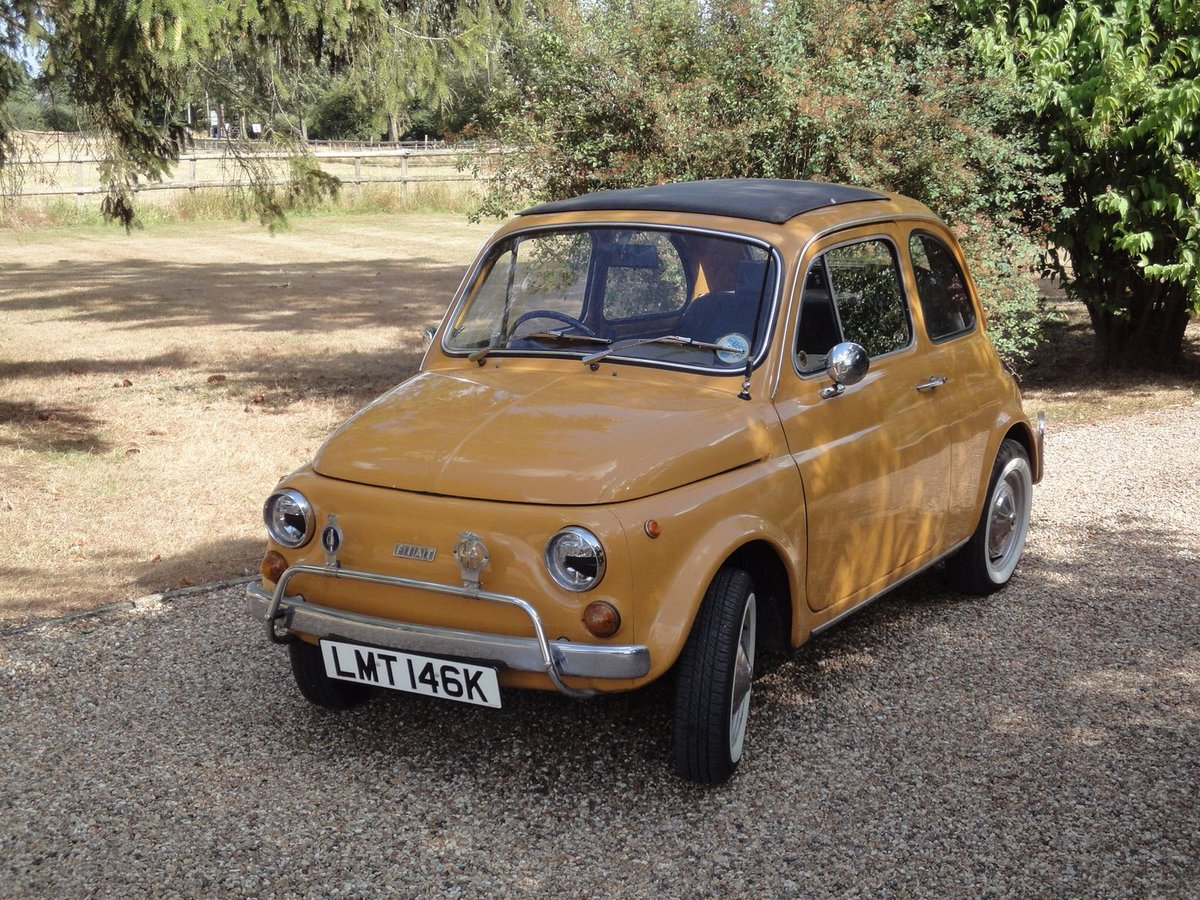 1972 Very Original Right hand drive Fiat 500 in Mustard Yellow For Sale (picture 5 of 5)