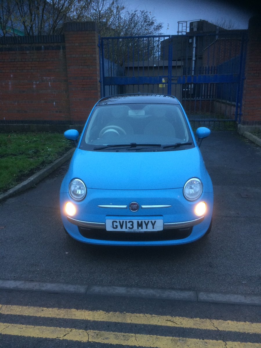 2013 Gorgeous baby blue Fiat 500 1.2 lounge For Sale (picture 1 of 4)
