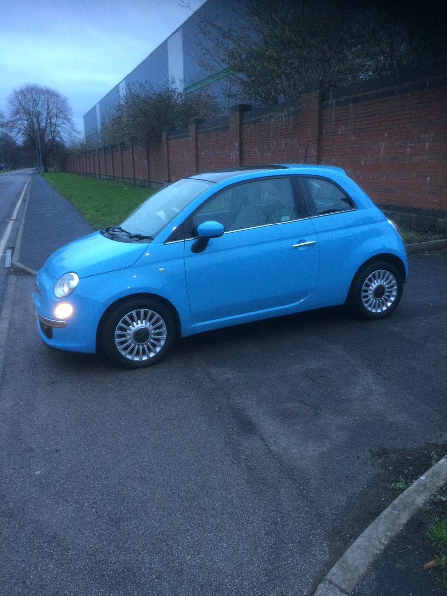 2013 Gorgeous baby blue Fiat 500 1.2 lounge For Sale (picture 2 of 4)