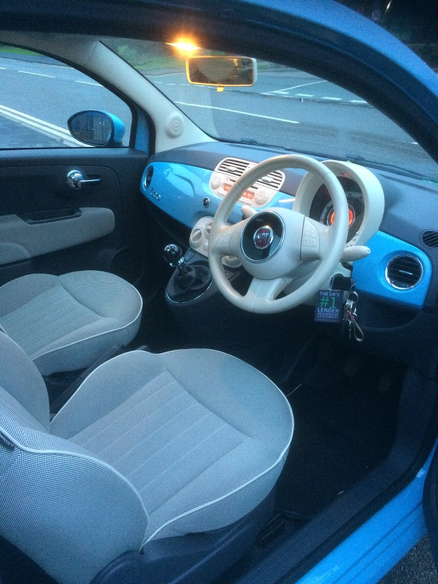 2013 Gorgeous baby blue Fiat 500 1.2 lounge For Sale (picture 3 of 4)