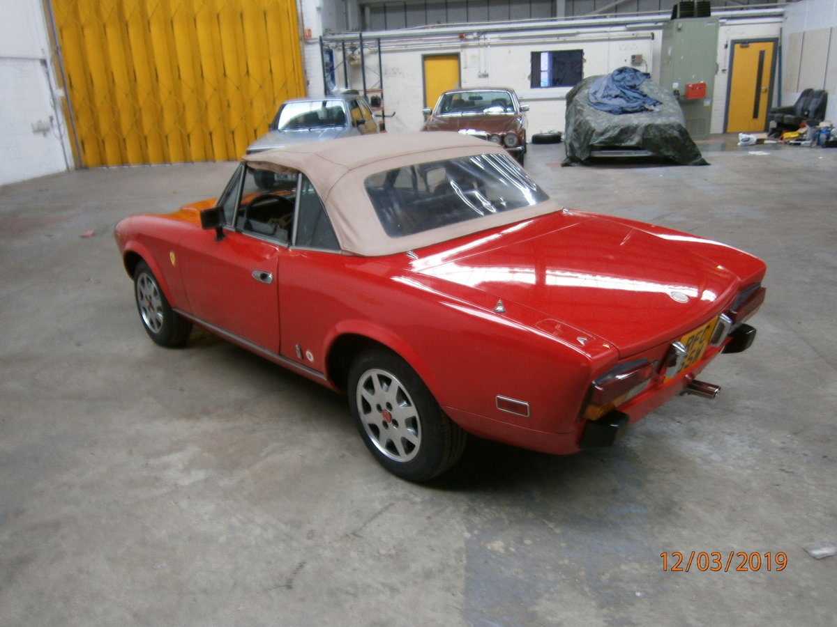 Fiat 124 spider 1981 lhd 2.0lt twin cam SOLD (picture 1 of 6)