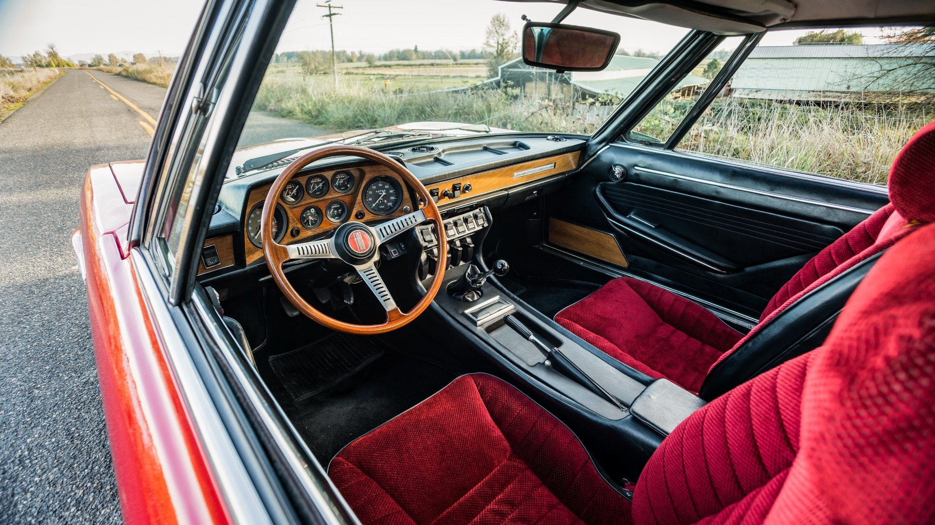 1970 Fiat Dino 2400  = Red(~)Black driver 31k miles  $68k For Sale (picture 3 of 6)