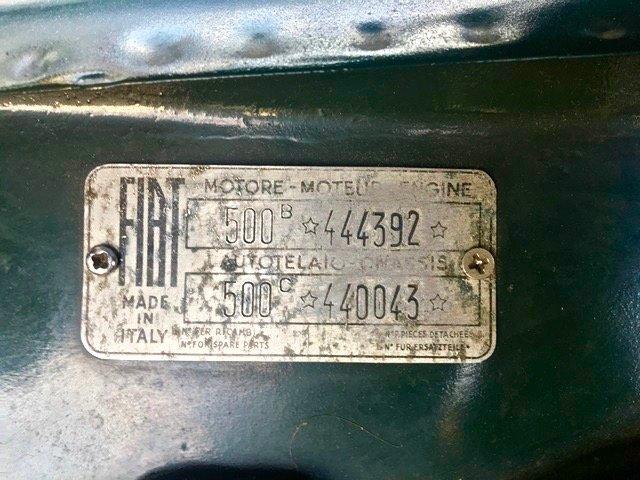 1953 Fiat - 500 C Topolino Trasformabile For Sale (picture 6 of 6)