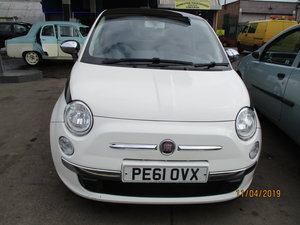2011 61 PLATE FIAT 500 LOUNGE 1250cc PETROL 69,000 ILES NEW MOT For Sale