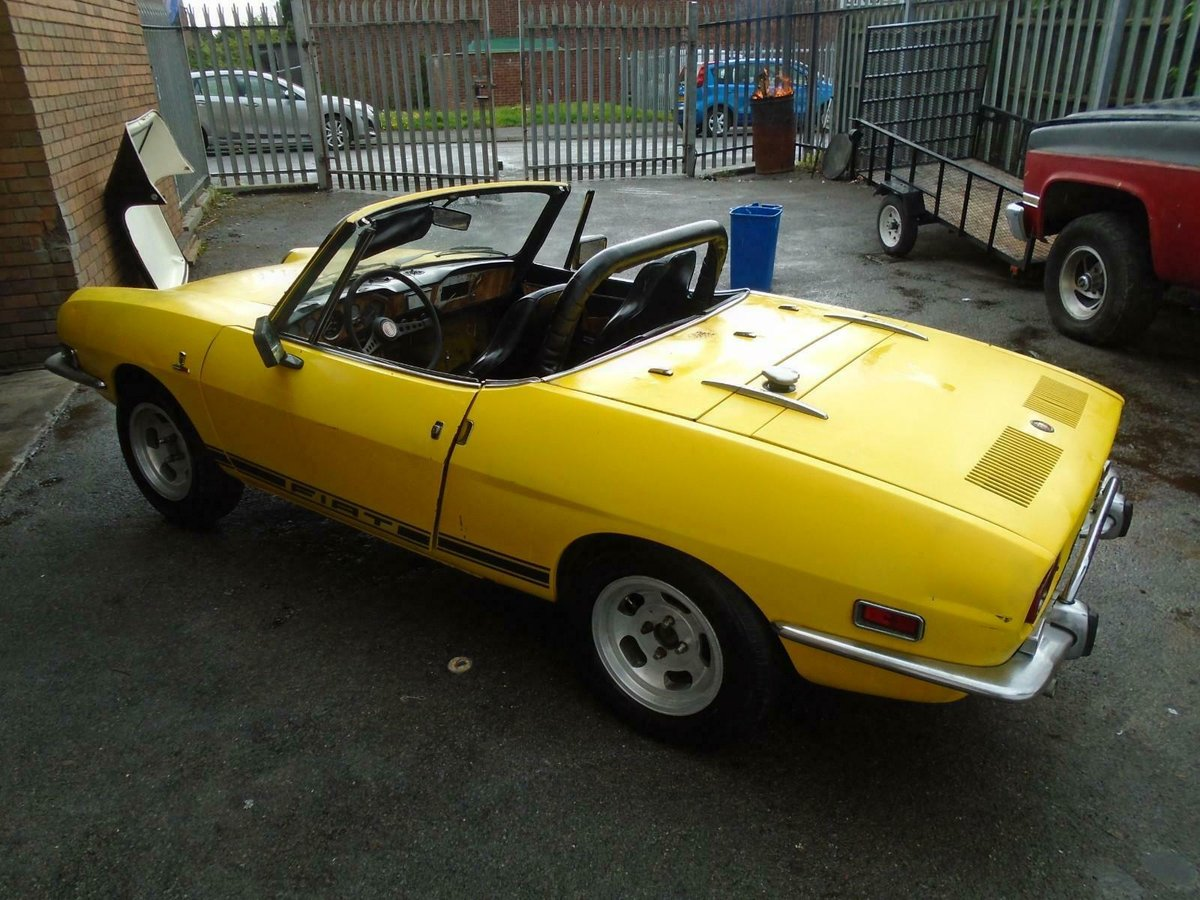 1972 FIAT 850 SPORT SPIDER CONVERTIBLE(1971)YELLOW! SOLID PROJECT For Sale (picture 2 of 6)