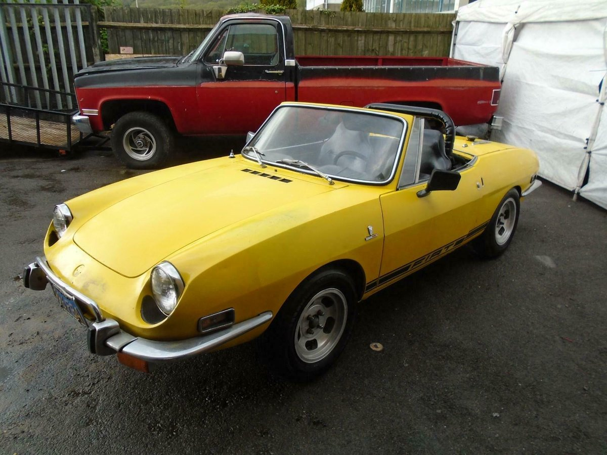 1972 FIAT 850 SPORT SPIDER CONVERTIBLE(1971)YELLOW! SOLID PROJECT For Sale (picture 3 of 6)