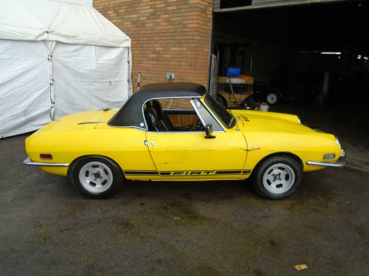 1972 FIAT 850 SPORT SPIDER CONVERTIBLE(1971)YELLOW! SOLID PROJECT For Sale (picture 4 of 6)