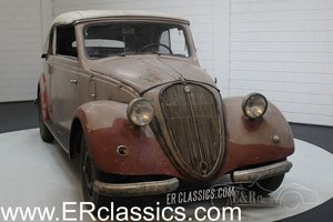 Barnfind 6-cyl NSU-Fiat 1500 Gläser Cabriolet 1938 For Sale