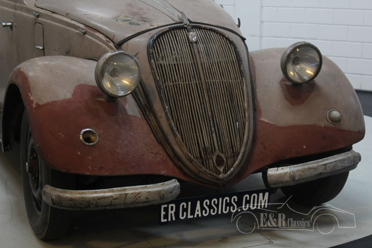 Barnfind 6-cyl NSU-Fiat 1500 Gläser Cabriolet 1938 For Sale (picture 5 of 6)