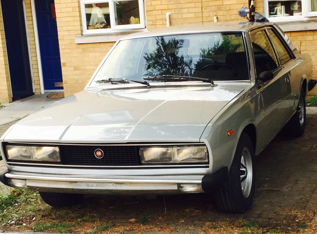1973 Fiat 130 Coupé in silver For Sale (picture 1 of 6)