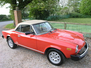 1983 Fiat 124 Pininfarina Azzura Spider For Sale