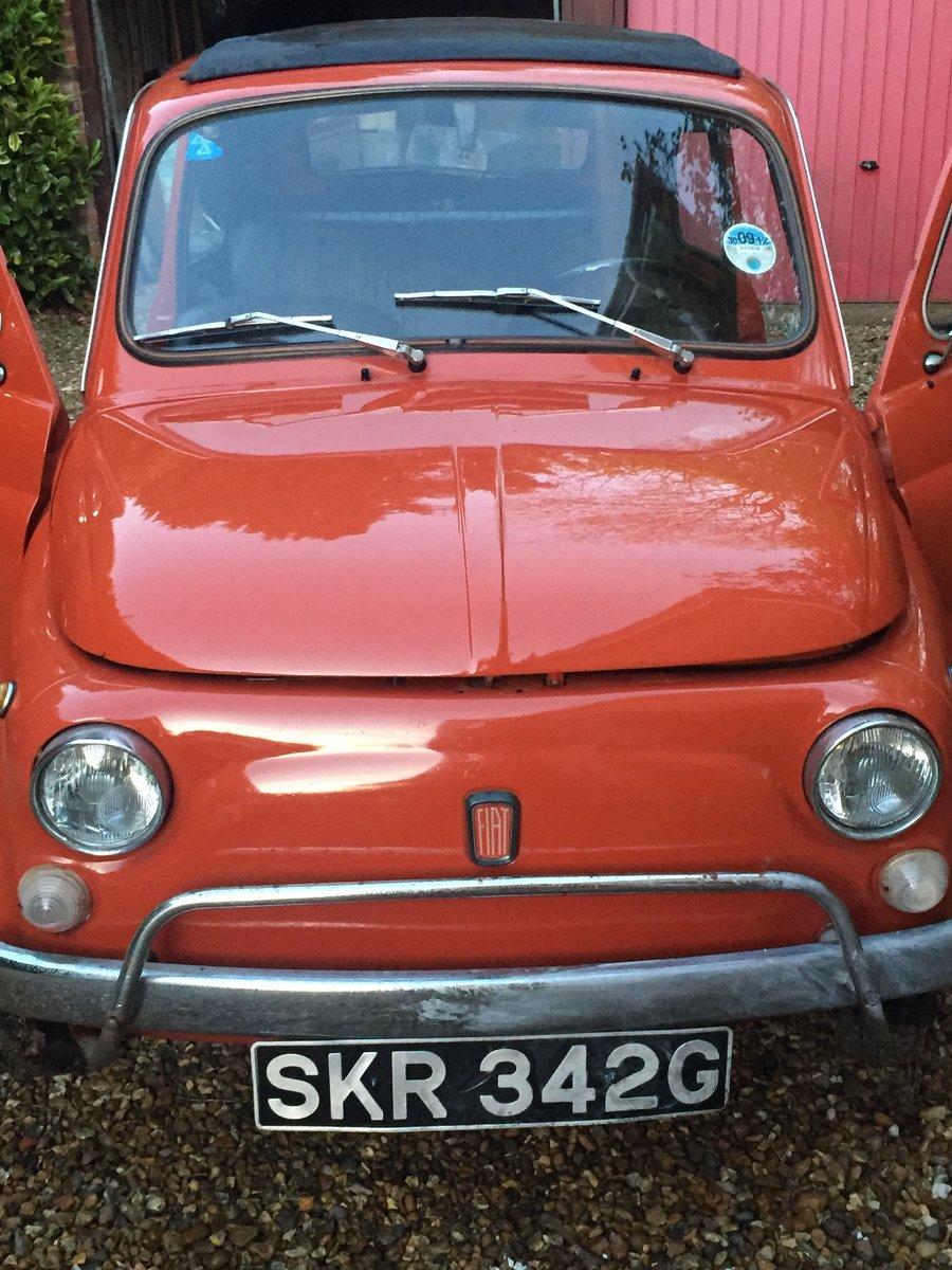 Fiat 500L Brick red 1968 cinquecento  For Sale (picture 1 of 6)