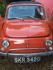 Fiat 500L Brick red 1968 cinquecento