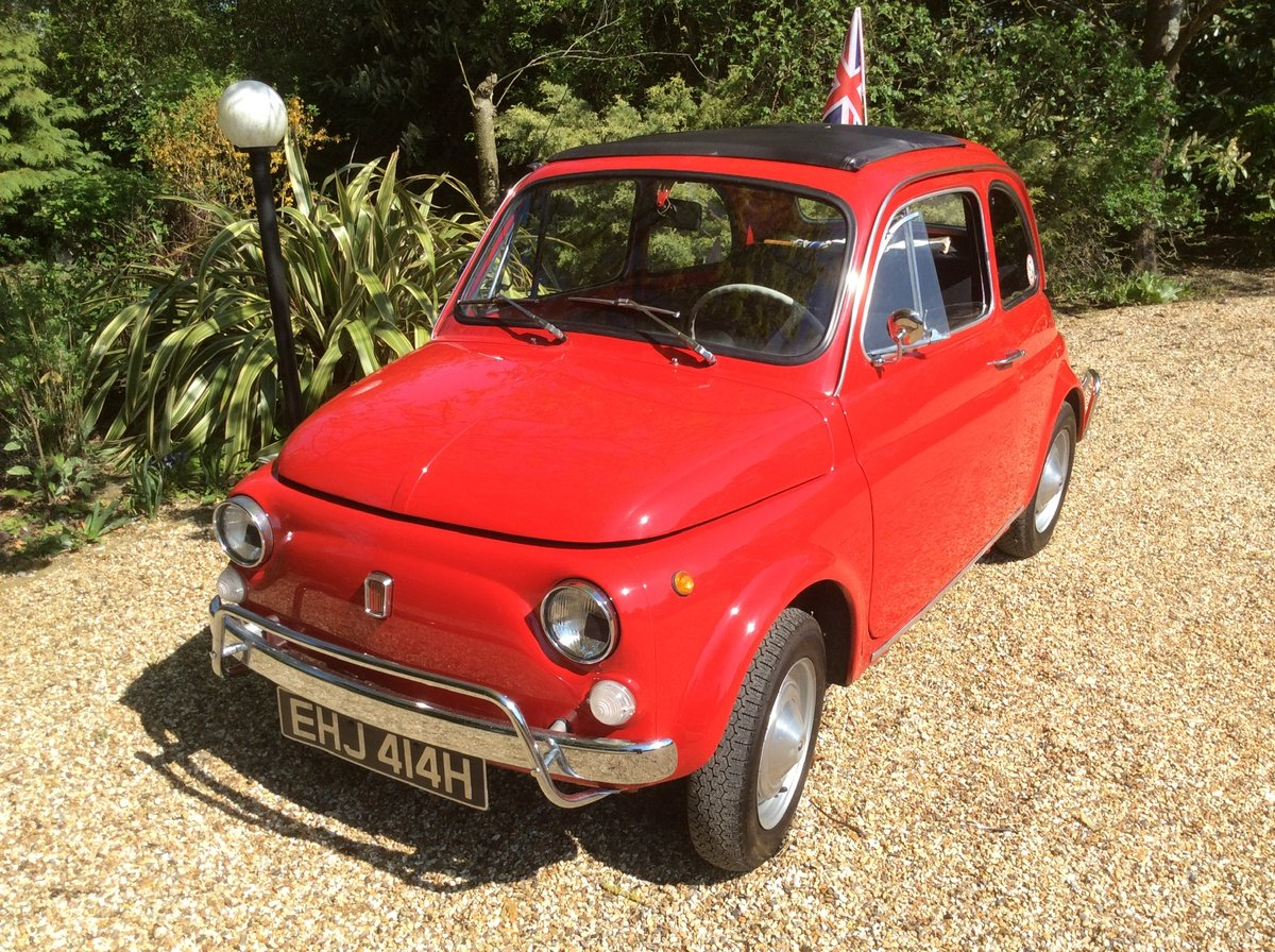 Fiat 500L 1969 Ferrari red For Sale (picture 1 of 6)