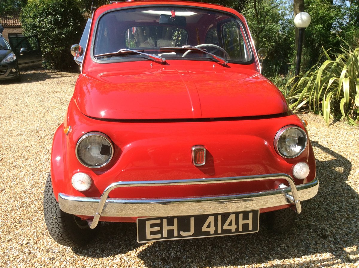 Fiat 500L 1969 Ferrari red For Sale (picture 3 of 6)