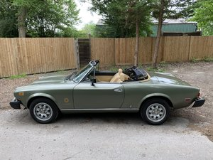 1981 Fiat 124 Spider Turbo Rare Car 1 of 700 made  LHD SOLD