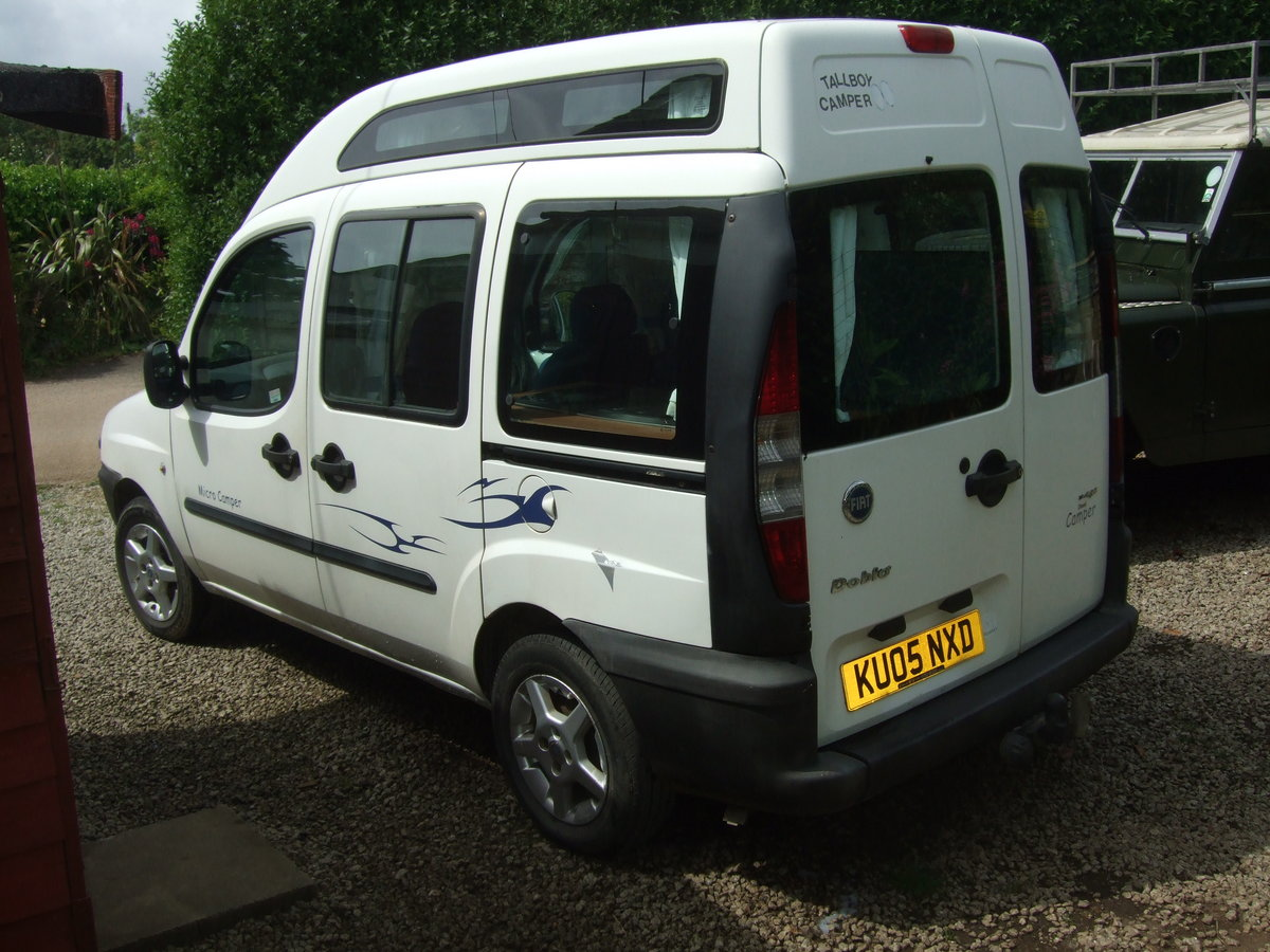 2005 2Fiat Doblo Tallboy Micro camper For Sale (picture 2 of 6)