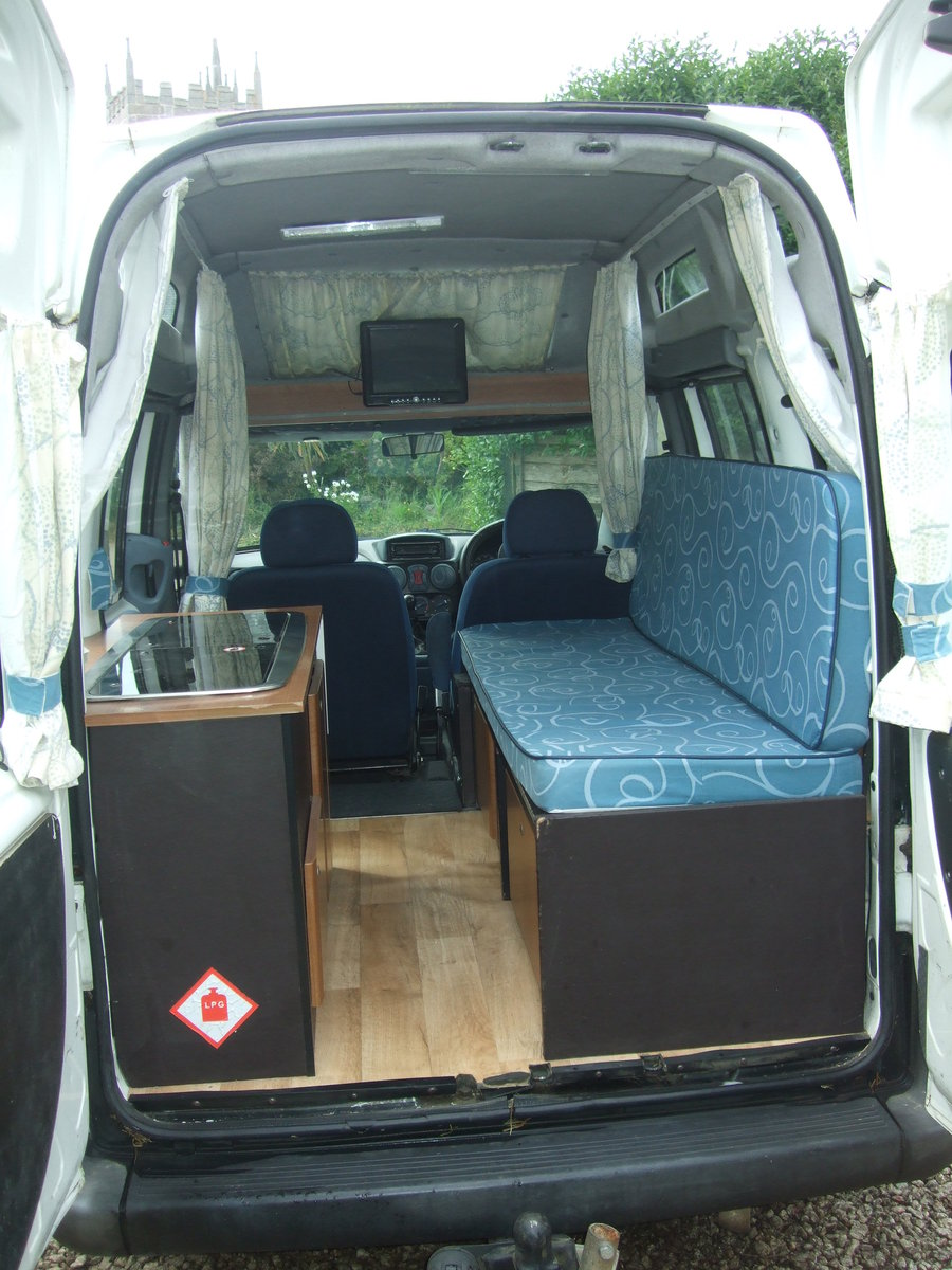 2005 2Fiat Doblo Tallboy Micro camper For Sale (picture 4 of 6)