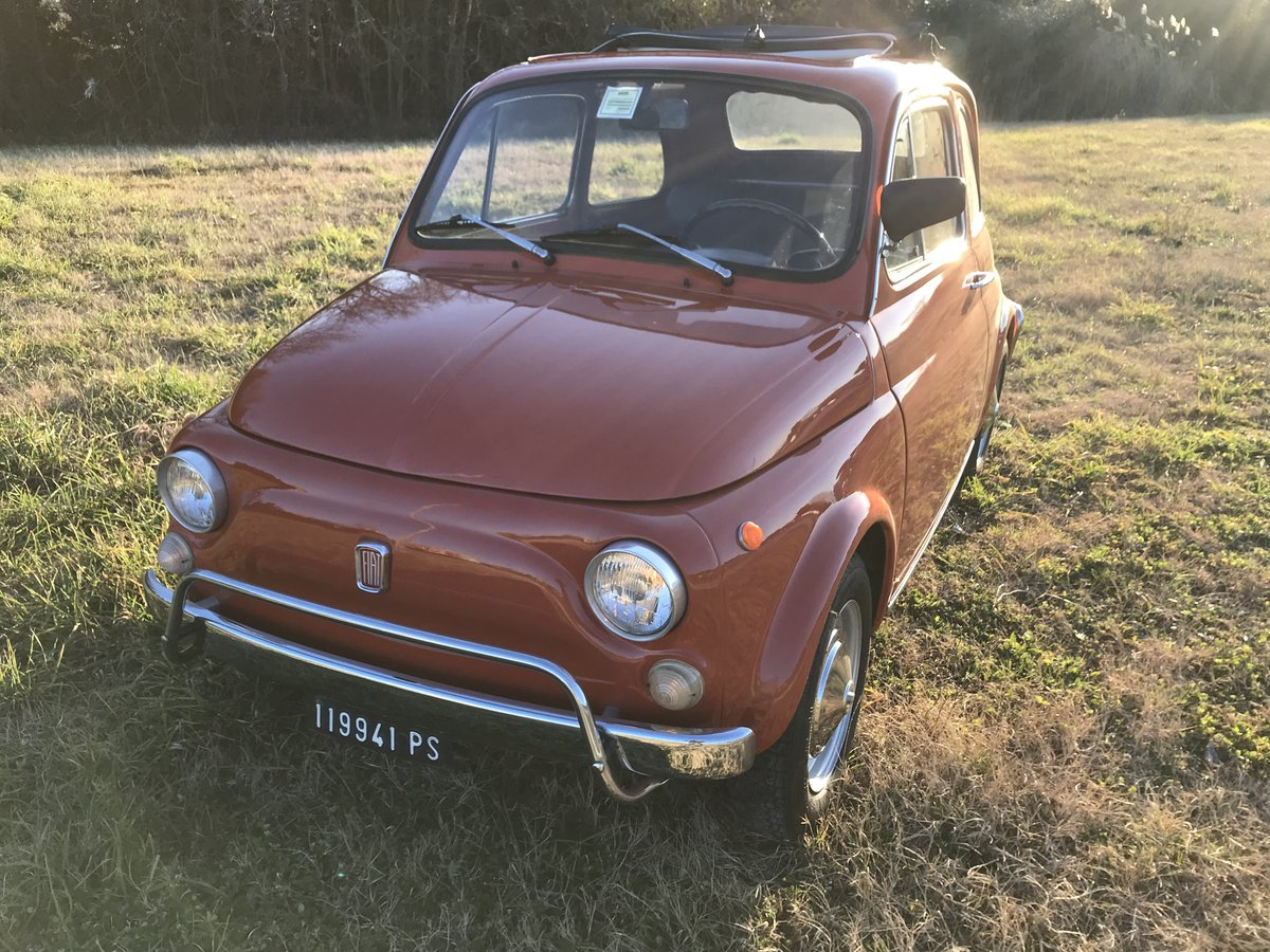 1972 Excellent preserved Fiat 500 L 2 owners  For Sale (picture 2 of 6)