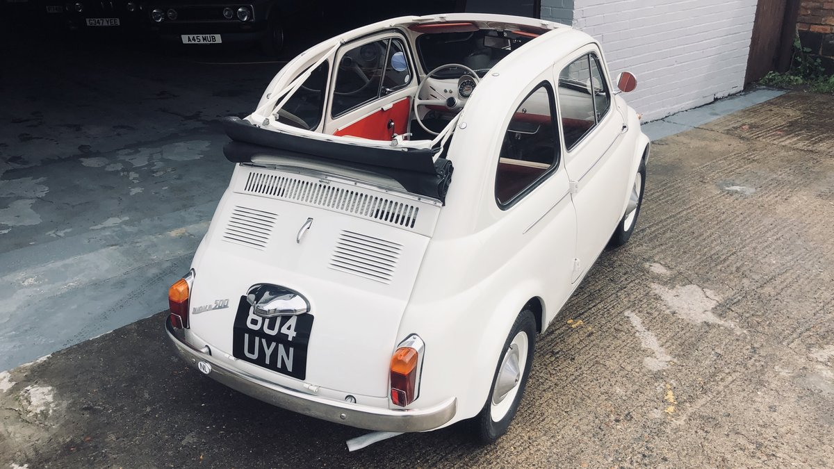1960 Fiat 500D Trasformabile For Sale (picture 1 of 6)