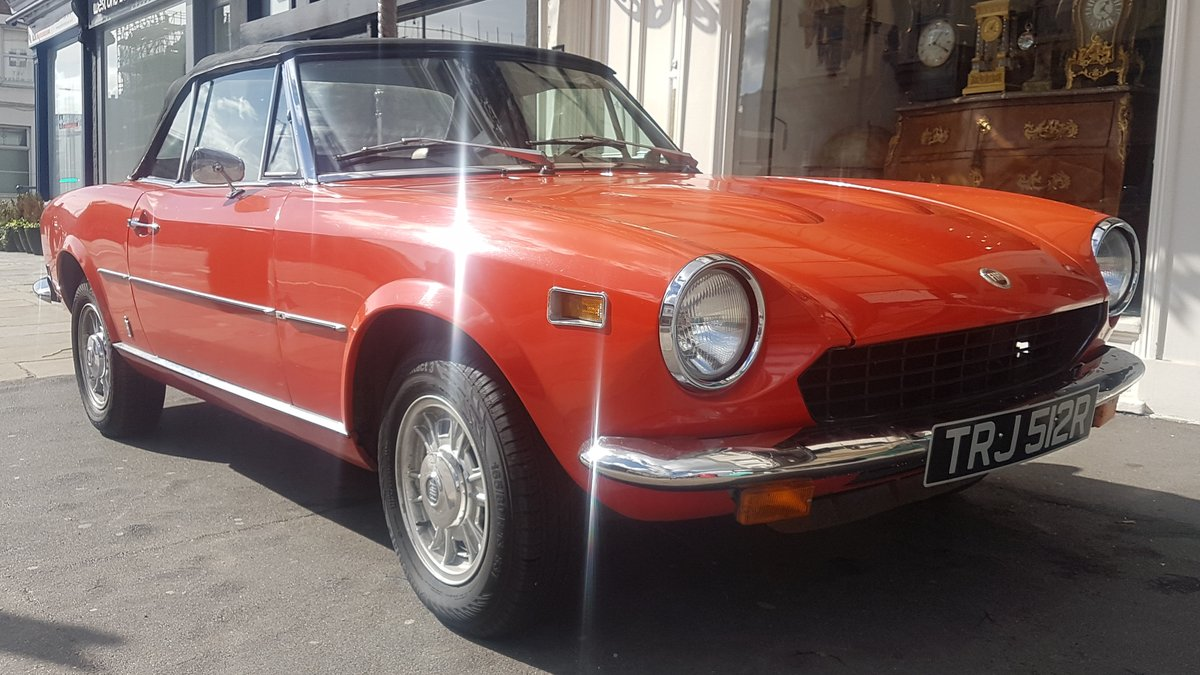 1977 Fiat 124 Chome Bumper Spider For Sale (picture 1 of 6)