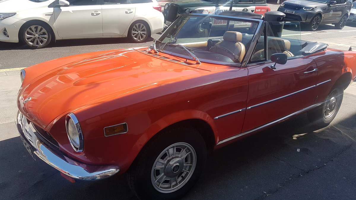 1977 Fiat 124 Chome Bumper Spider For Sale (picture 5 of 6)