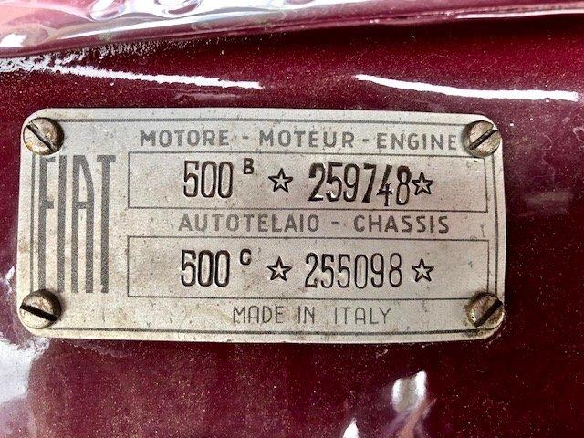 1951 FIAT - 500 C Trasformabile For Sale (picture 6 of 6)