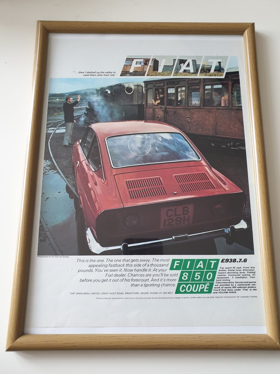 Original 1970 Fiat Advert SOLD (picture 1 of 2)