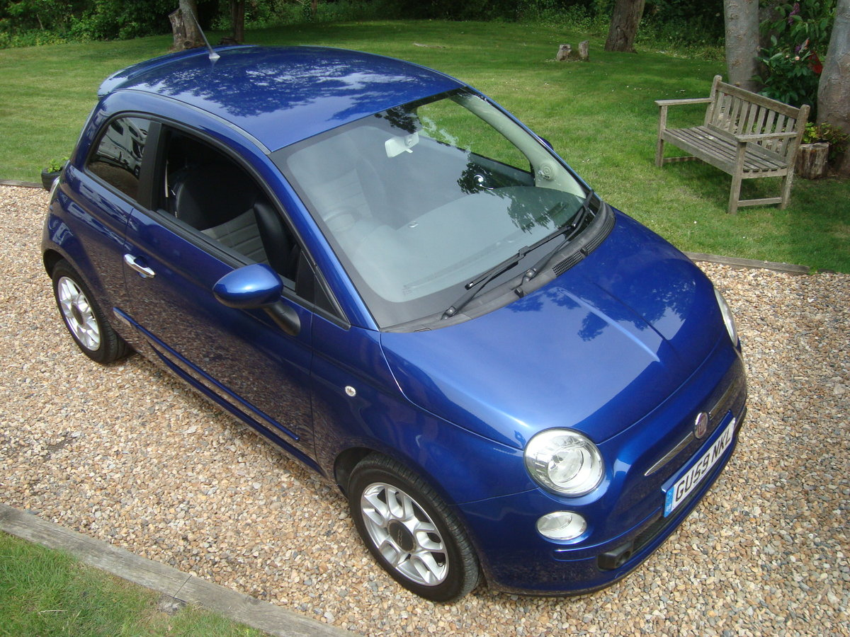 Fiat 500 1.4i Sport 2009(59).Vivid metallic blue.49700 miles For Sale (picture 1 of 6)