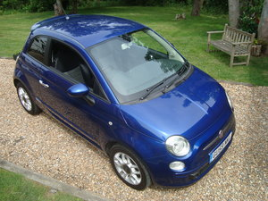 Fiat 500 1.4i Sport 2009(59).Vivid metallic blue.49700 miles For Sale