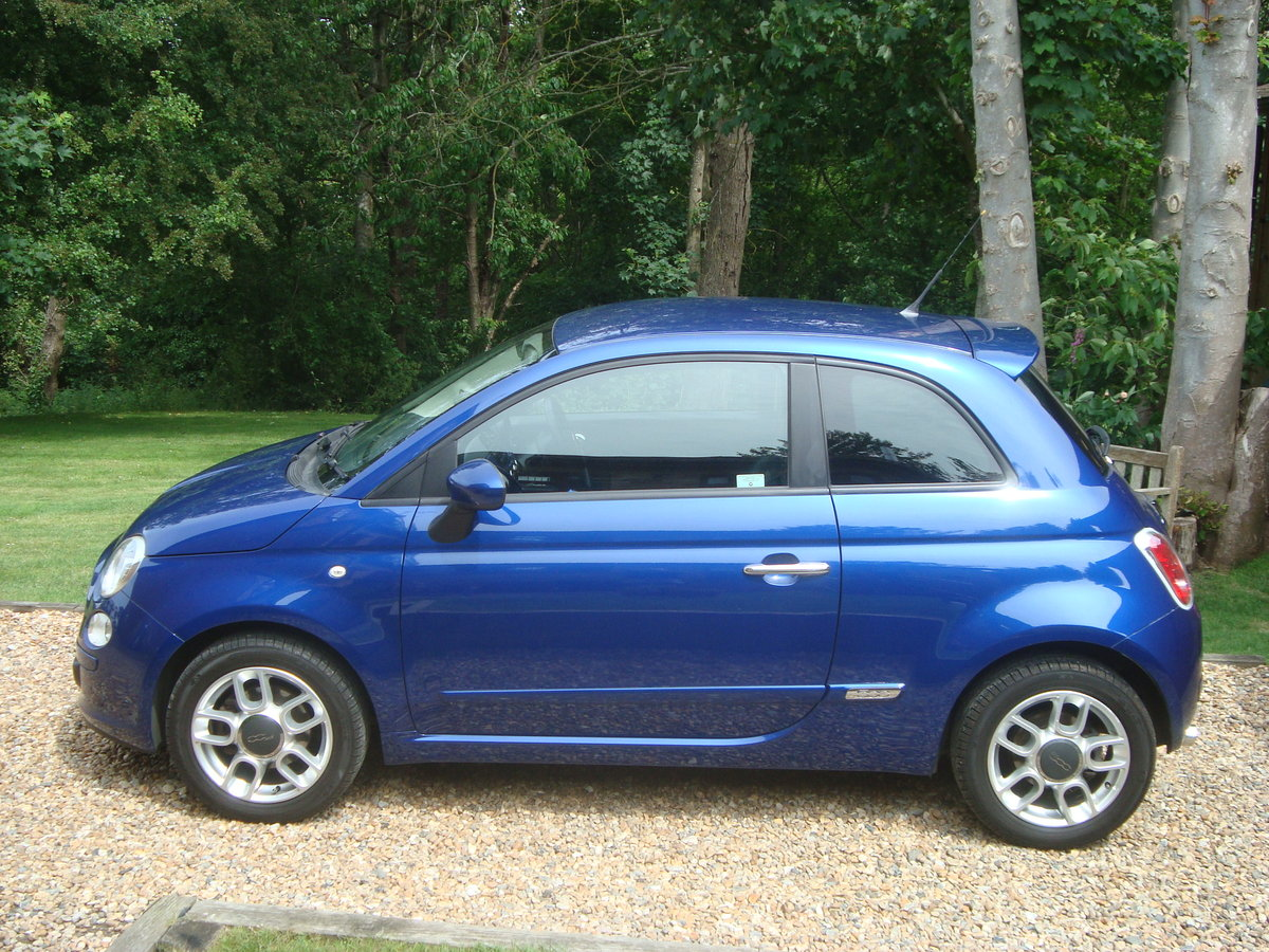 Fiat 500 1.4i Sport 2009(59).Vivid metallic blue.49700 miles For Sale (picture 2 of 6)