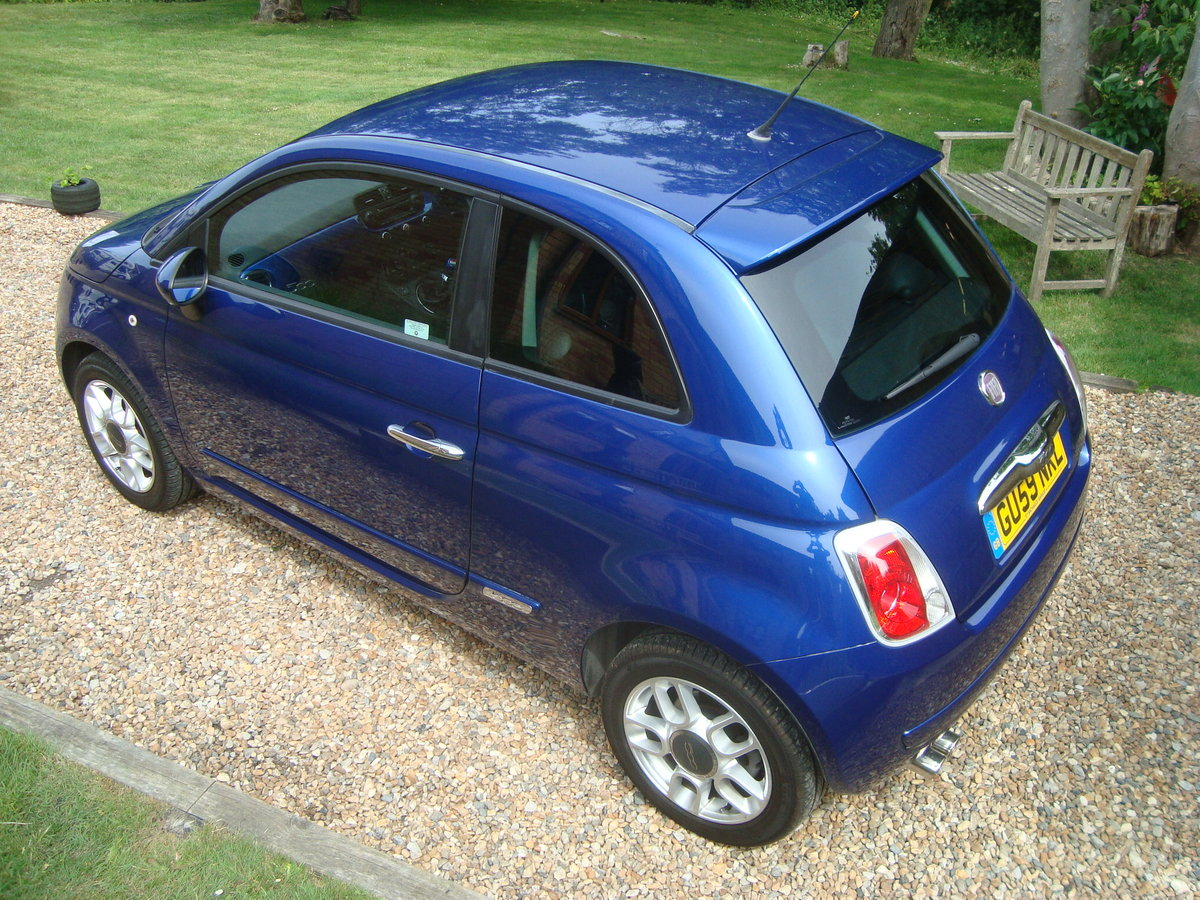 Fiat 500 1.4i Sport 2009(59).Vivid metallic blue.49700 miles For Sale (picture 3 of 6)