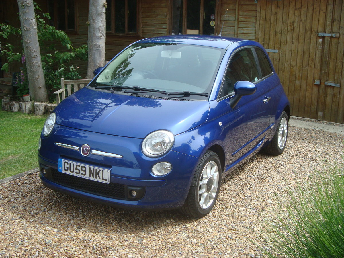 Fiat 500 1.4i Sport 2009(59).Vivid metallic blue.49700 miles For Sale (picture 4 of 6)
