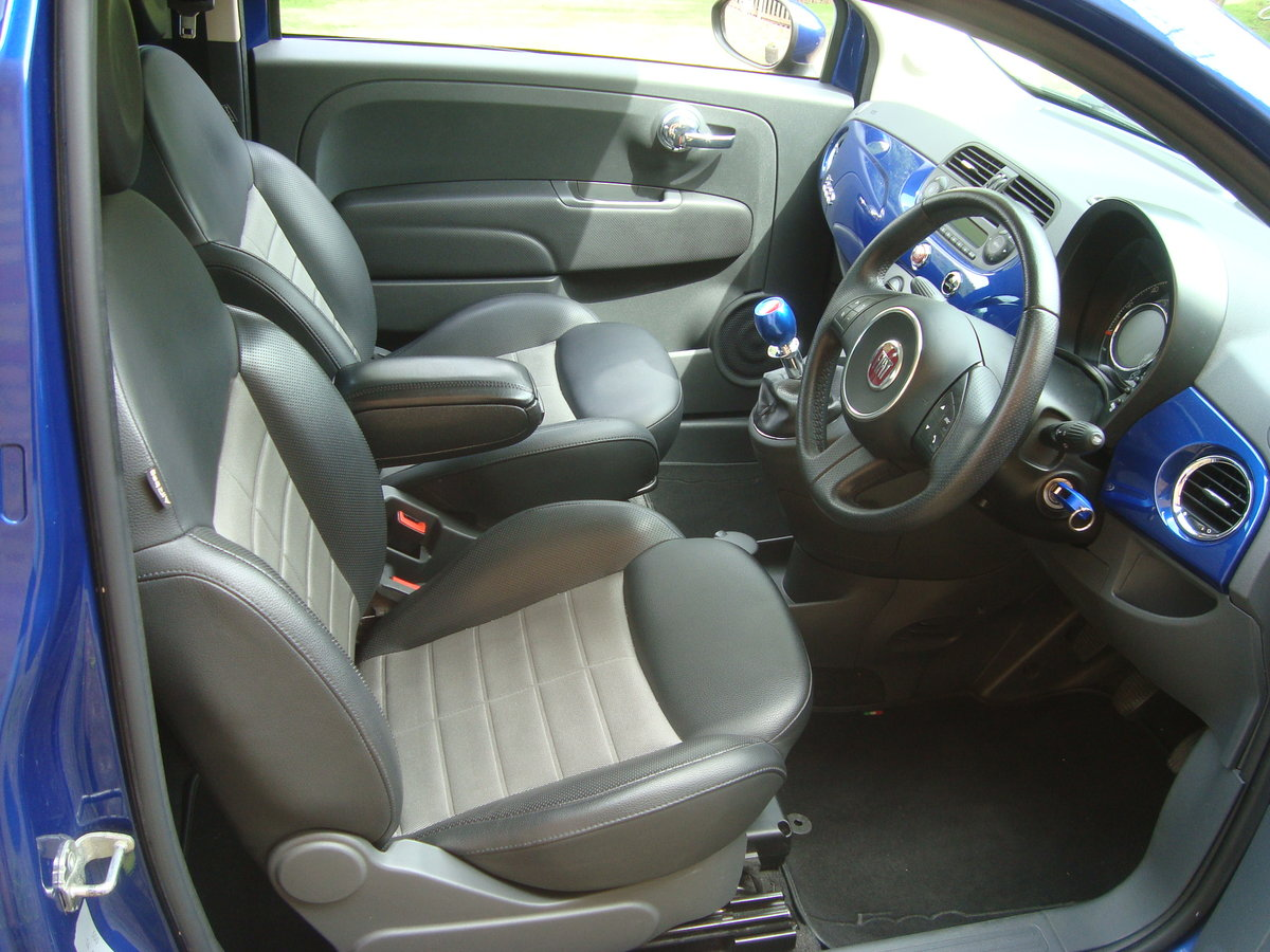 Fiat 500 1.4i Sport 2009(59).Vivid metallic blue.49700 miles For Sale (picture 5 of 6)