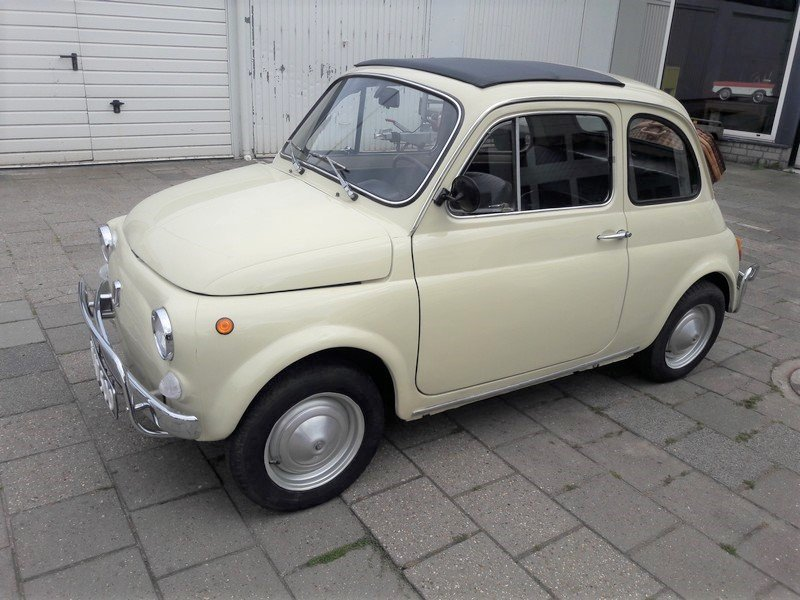 Fiat 500 Luxury beige 1972     6250 EURO SOLD (picture 1 of 6)