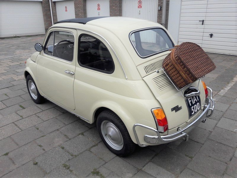 Fiat 500 Luxury beige 1972     6250 EURO SOLD (picture 2 of 6)