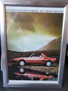 1993 Fiat X1/9 advert Original  For Sale
