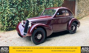 1936 car visible at Auto Moto d'Epoca 24-27 Oct. GiroClassico 5B For Sale