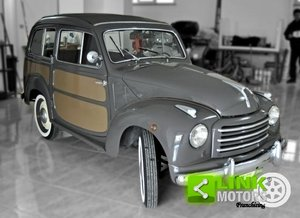 Fiat 500C Belvedere 1953 ISCRITTA ASI CON DOCUMENTI E TARGH For Sale