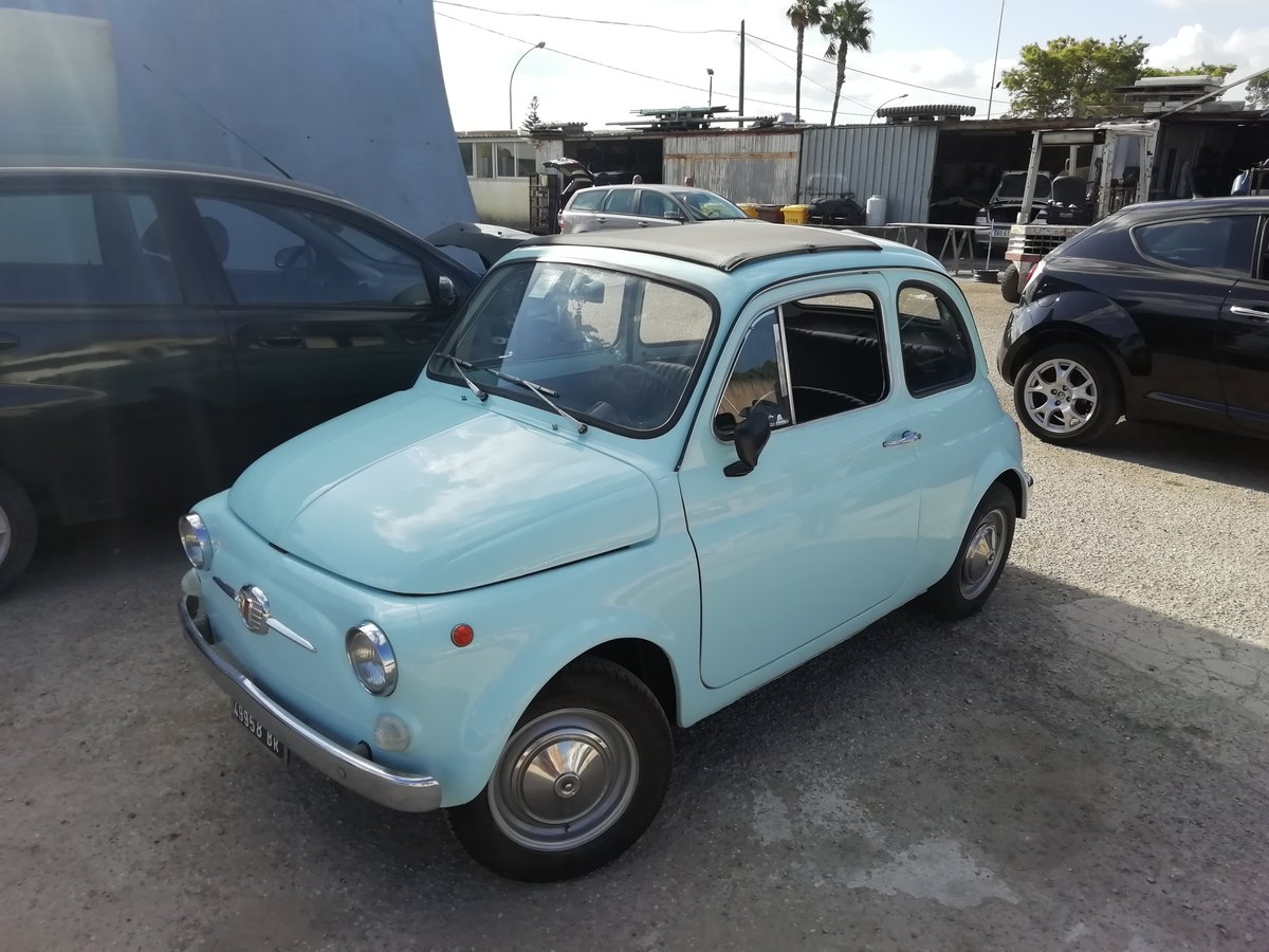 1967 FIAT 500 F LIGHT BLUE - FULLY RESTORED For Sale (picture 1 of 6)