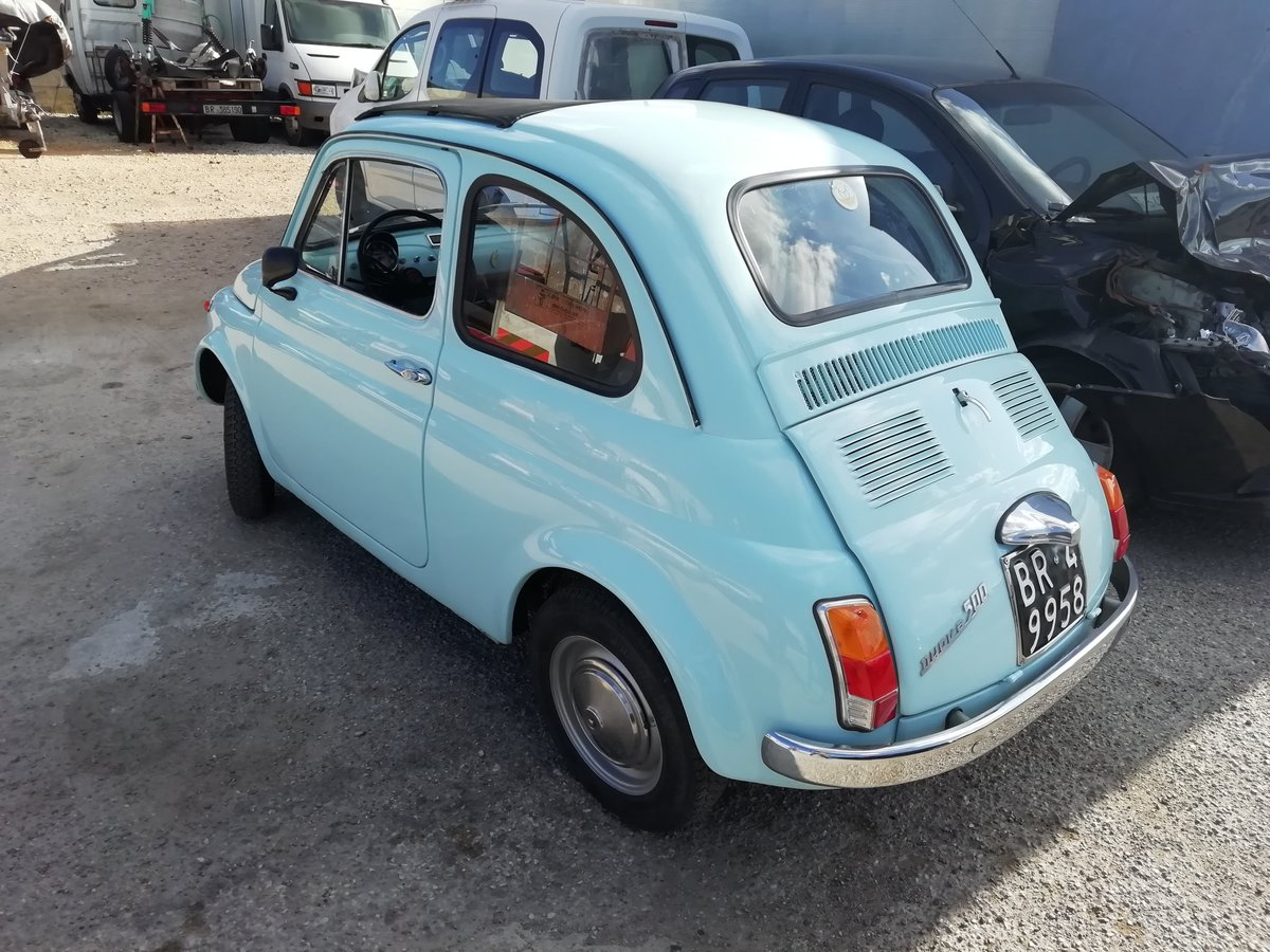 1967 FIAT 500 F LIGHT BLUE - FULLY RESTORED For Sale (picture 2 of 6)