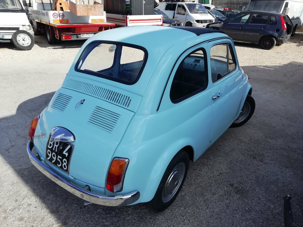 1967 FIAT 500 F LIGHT BLUE - FULLY RESTORED For Sale (picture 3 of 6)