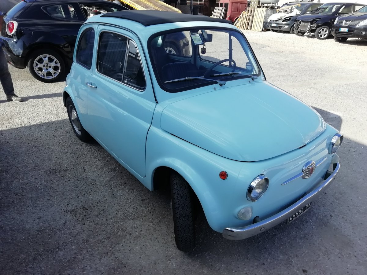 1967 FIAT 500 F LIGHT BLUE - FULLY RESTORED For Sale (picture 4 of 6)