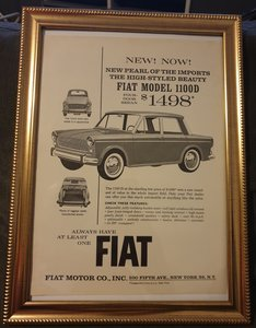 1963 Fiat 1100D Advert Original