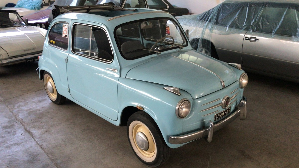 1957 One family owned Rare Fiat 600 Trasformabile 1st series For Sale (picture 1 of 6)