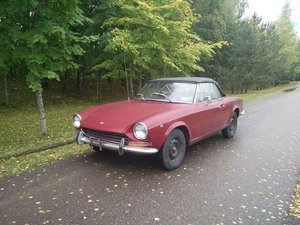 1969 Fiat 124 Sport Spider, Serie 1, AS '69 LHD