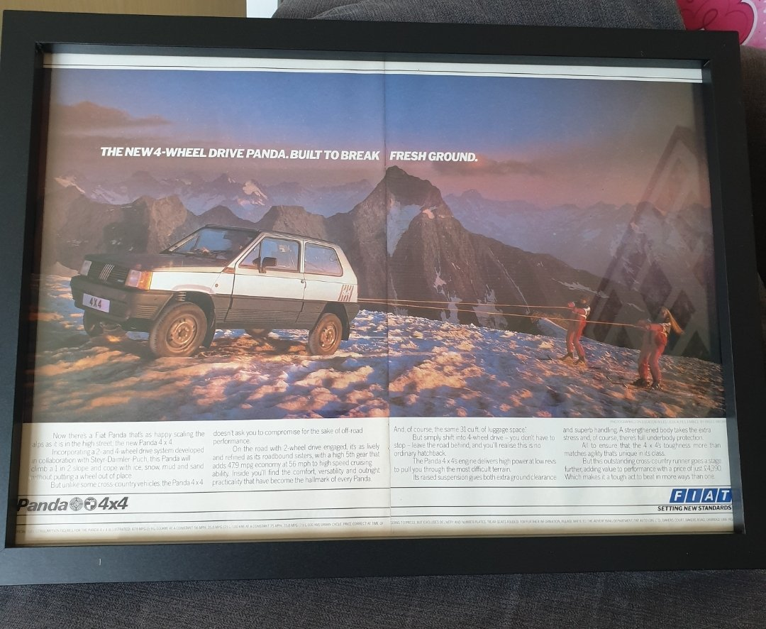 1984 Original Fiat Panda 4X4 Advert For Sale (picture 1 of 2)