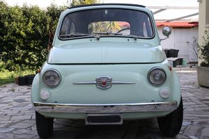 1969 Fiat 500 F aquamarine green