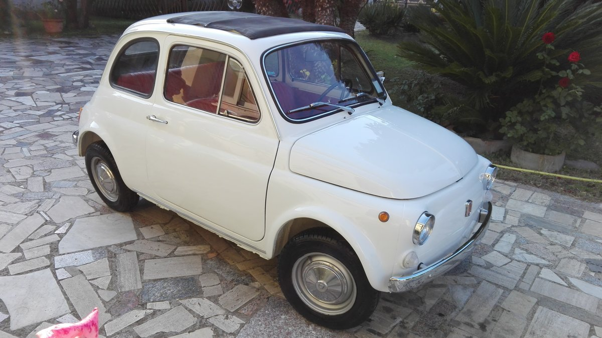 1971 Fiat 500 L white with red interior For Sale (picture 1 of 10)